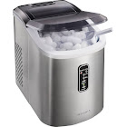 Insignia - 26-Lb. Portable Ice Maker - Stainless Steel