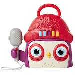Becca's Bunch Owl Kids Karaoke Machine with Microphone Preschool Toys Player, Play, Stop, Volume Buttons - Unlimited Cellular