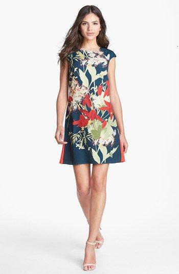 Ted Baker London 'Fortys Bloom' Print Shift Dress | Nordstrom