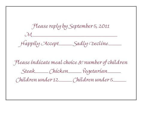 Is this an okay RSVP card? Or too busy?