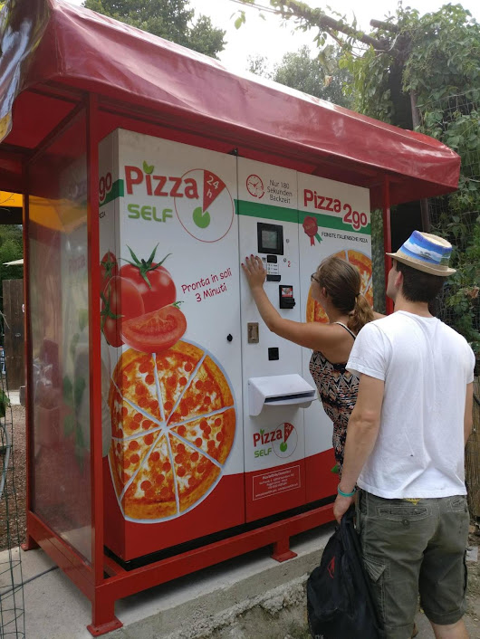 A PIZZA VENDING MACHINE YES - It's hard being a Chinese kid