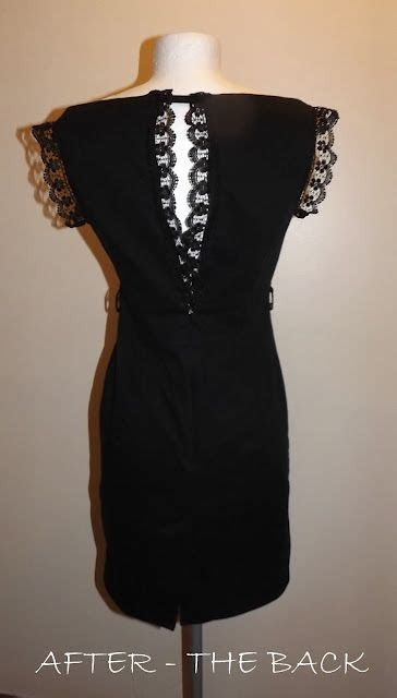 Making a too small dress bigger refashion. Lace at the