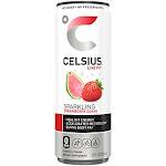 Celsius Sparkling Energy Drink No Sugar or Preservatives Strawberry Guava (12 Drinks 12 Fl Oz. Each)