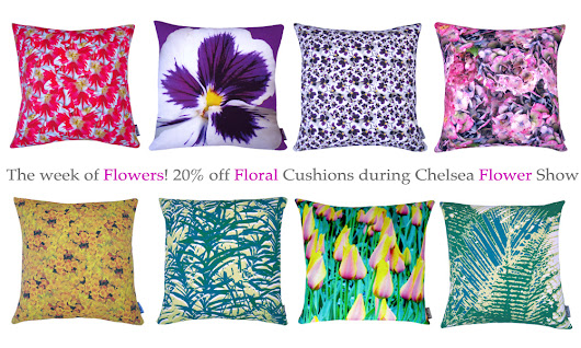 The Week of Flowers - 20% off Floral Cushions