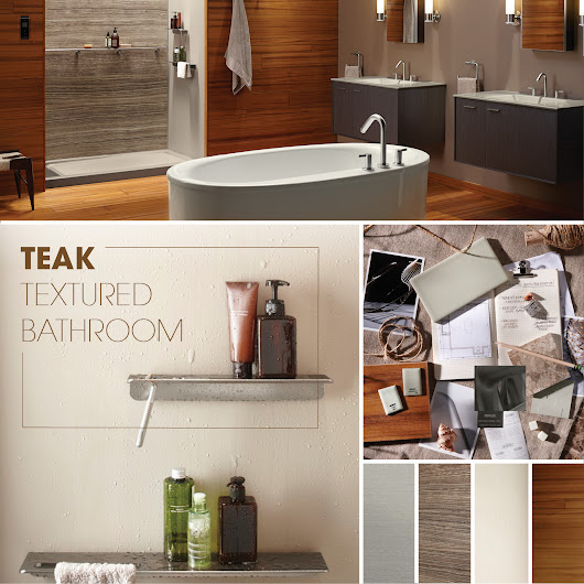 Teak Textured Bathroom | Kohler
