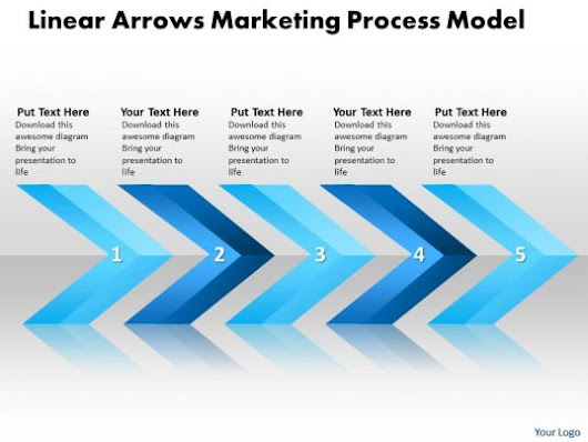Business PowerPoint Templates linear arrows marketing process model Sales PPT Slides