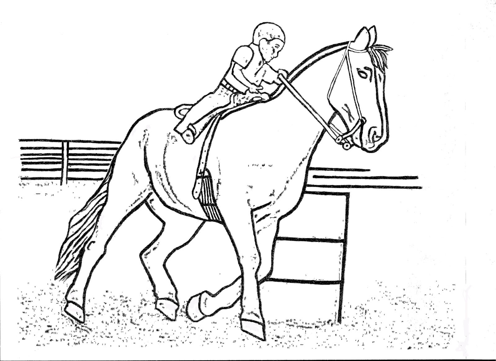 Barrel Racing Coloring Pages To Print Coloring Pages
