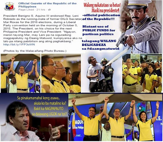 Why is the Official Gazette publishing Liberal Party propaganda? |