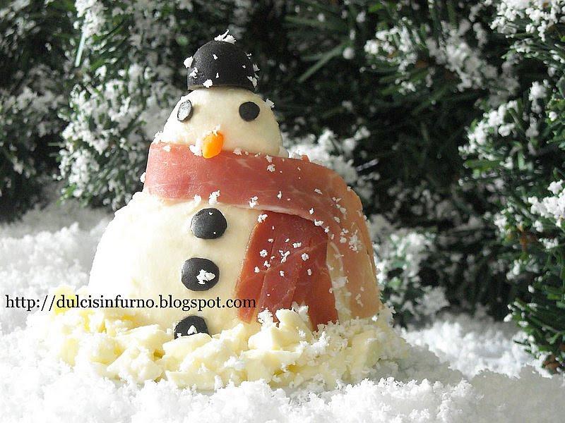 I Pupazzi di Neve-Mozzarella Snowmen