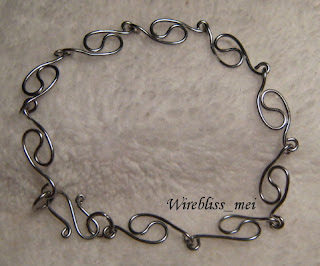 Extended S-Link Bracelet with 20g stainless steel wire
