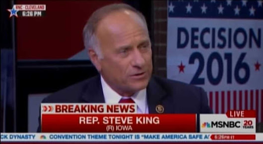 Rep. Steve King wonders what 'sub-groups' besides whites made contributions to civilization