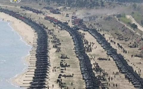 Tanks on a beach