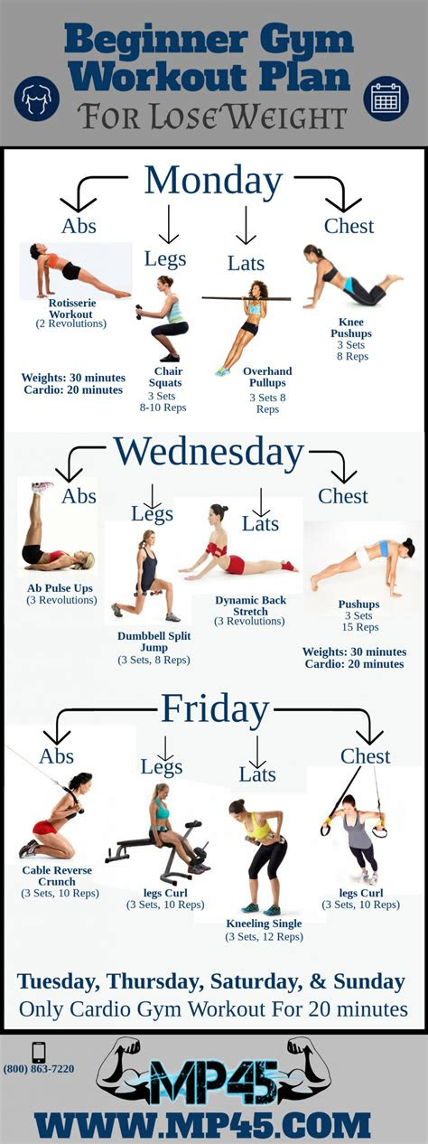 beginner gym workout plan  lose weight visually