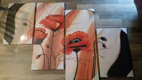 How To Hang 4 Piece Canvas Painting Ash Wall Decor