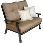 Barbados Cushion Aluminum Outdoor Patio Loveseat With Cushion