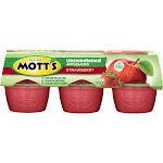 Mott's Unsweetened Strawberry Applesauce - 6ct/3.9oz Cups