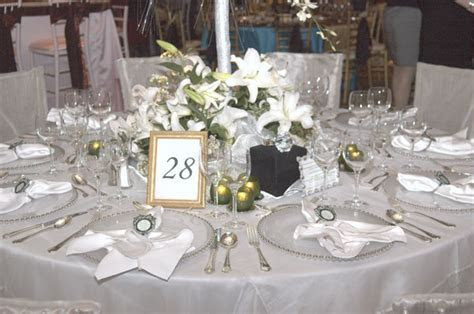 Diamond Theme Wedding Table Decorations