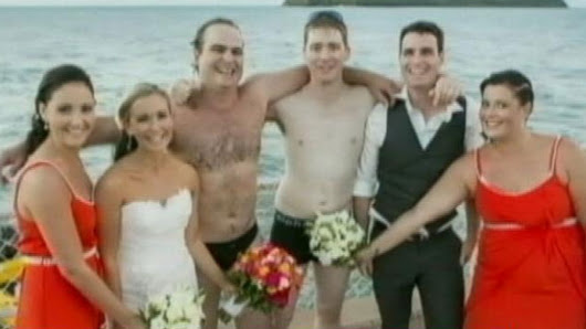 Groomsmen Strip Off Their Suits Mid-Photo to Rescue Fisherman
