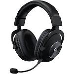 Logitech G Pro X Blue VO!CE Technology Over-Ear Headset - Cardioid/Uni-Directional - Black