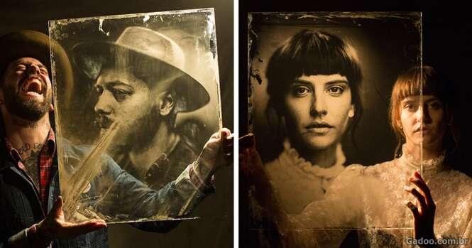 Fotógrafo usa câmera de 160 anos para fazer retratos incríveis