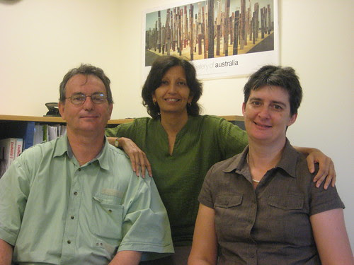 Stephen, Jayshree and Kaye