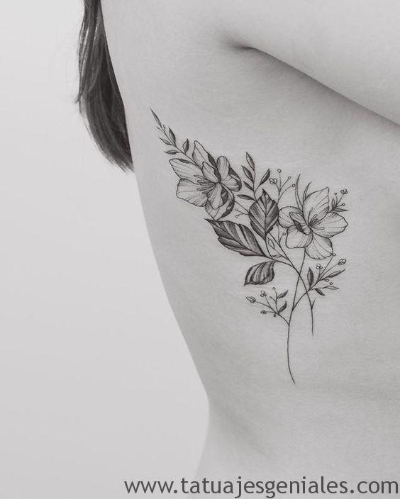 60 Tatuajes En Las Costillas Que Te Harán Más Sexy Tatuajes