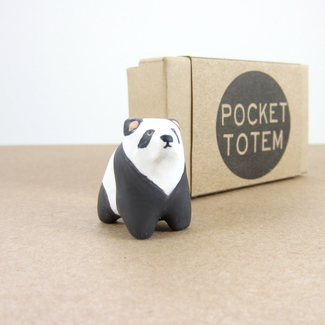 Panda bear pocket totem figurine