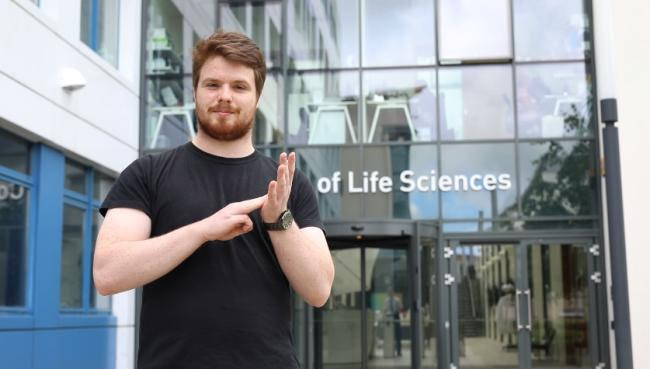 Liam McMulkin came up with the idea after becoming frustrated at the lack of complex scientific terms in BSL