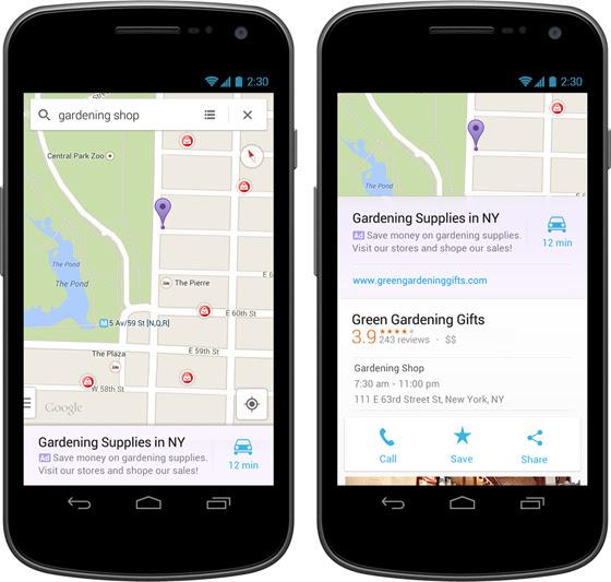 Google Maps, ứng dụng, quảng cáo, trả tiền, địa chỉ, Google