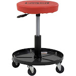 Pro-Lift Pneumatic Chair with 300 lb. Capacity - Black / Red