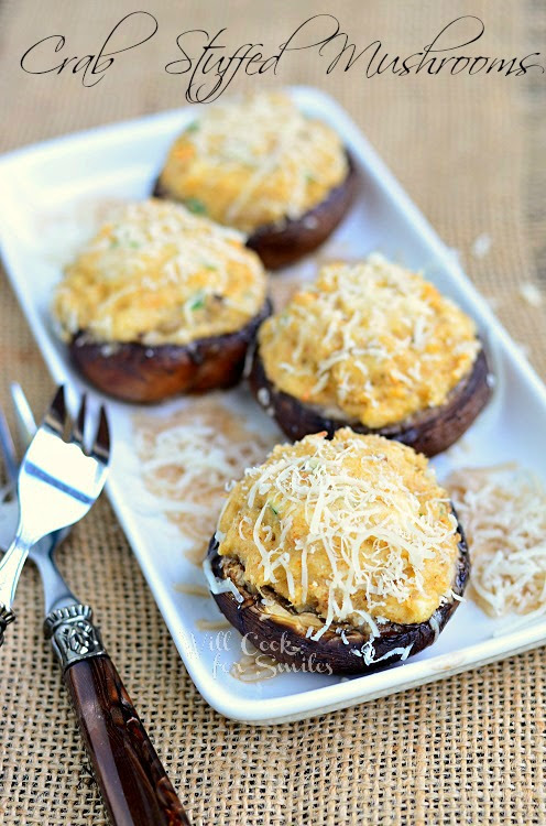 Crab Stuffed Mushrooms - Will Cook For Smiles