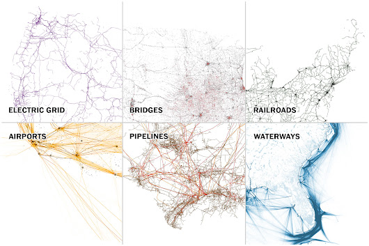 Six maps that show the anatomy of America's vast infrastructure