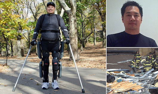 Architect crushed in 9-11 takes first steps thanks to bionic suit