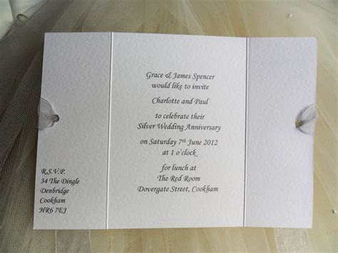 Gatefold Wedding Anniversary Invitations from £1 each for