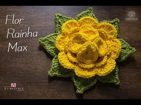 Flor em crochê Rainha Max
