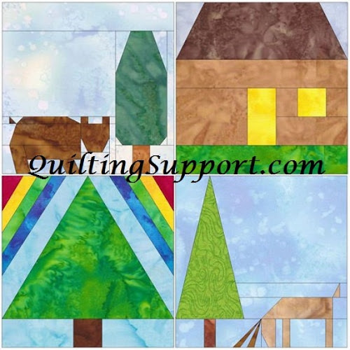 10 Inch Outdoors Foundation Set 1 Paper by HumburgCreations