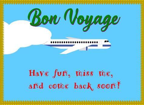 A Funny Bon Voyage Message Ecard. Free Bon Voyage eCards