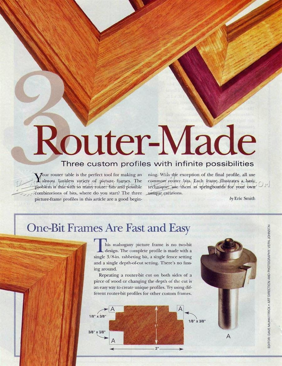 Router Made Picture Frame Woodarchivist