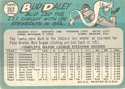 #262 Bud Daley (back)