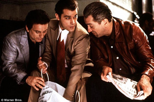 Accurate portrayal: Joe Pesci, left, Robert De Niro, right and Ray Liotta, centre, getting up to no good in the film Goodfellas