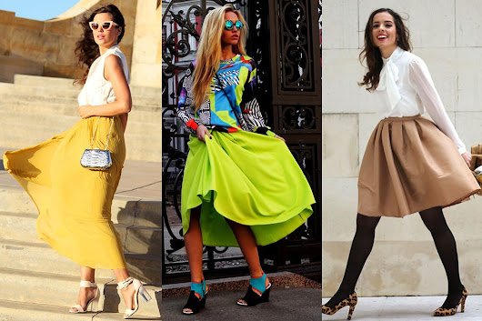 Best of the Week's Style Bloggers: Roomy Skirts