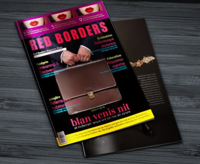 Free InDesign Magazine Template: Red Borders