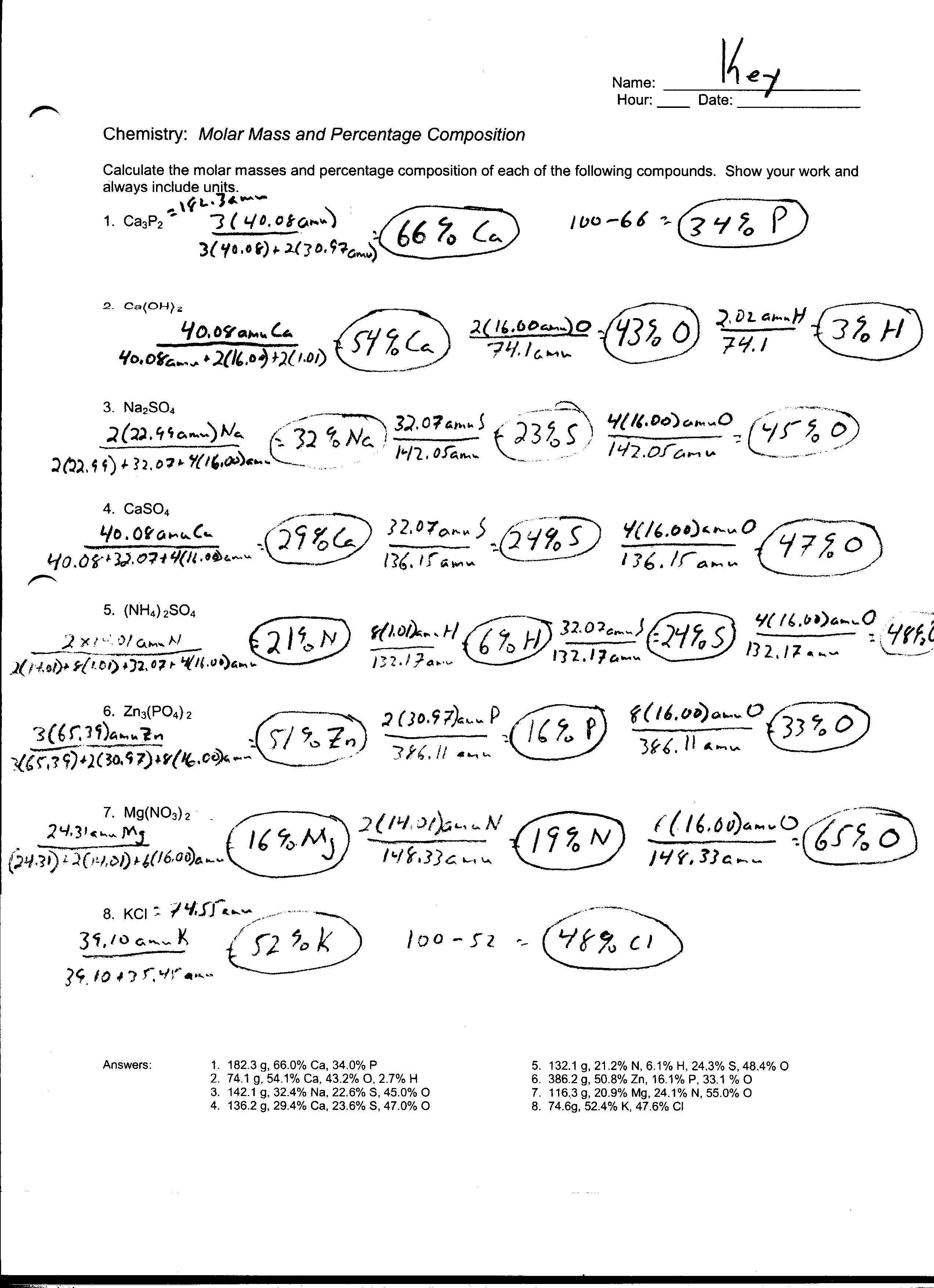 31 Moles And Mass Worksheet Free Worksheet Spreadsheet