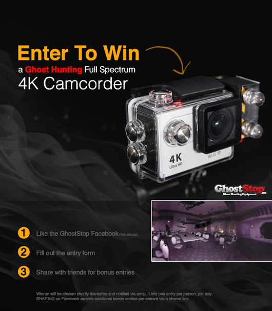 Win a Ghost Hunter HD Video Camera