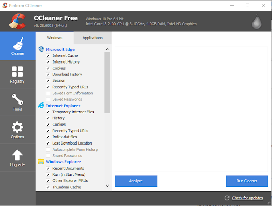 Piriform asks to use latest version of CCleaner to avoid Windows 10 compatibility issues