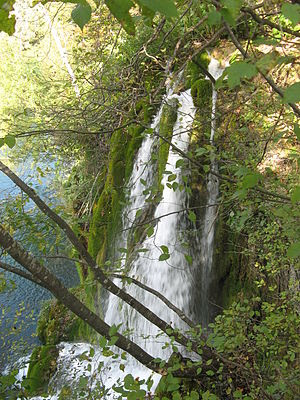 English: waterfall in plitvice lakes national ...