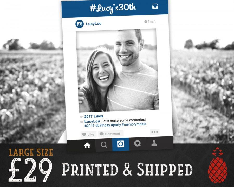 Printed Instagram Frame Wedding Booth Birthday Christmas