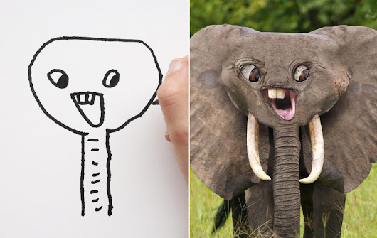 Dad Shows What Would Happen If Kid's Drawings Became Reality
