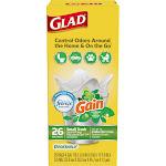 Glad Trash Bags, Quick-Tie, Original Scent, Small, 4 Gallon - 26 bags