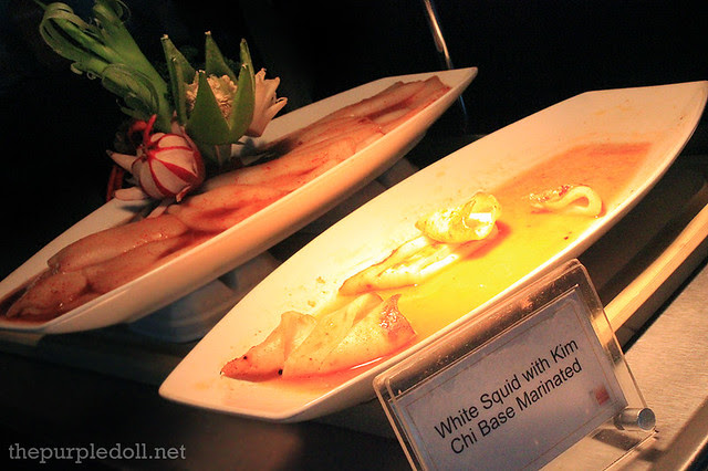 White Squid with Kim Chi Base Marinate